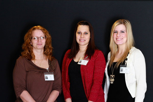 HRHS Welcomes new team members (from left to right), Lorenanita Foutes, Phelbotomist, Laboratory; Tanya Bueno, Patient Care Tech, PCU; and Majesta Morris, Teacher, Hannibal Children's Center.