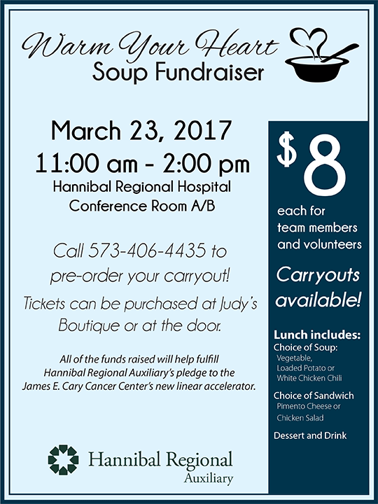 Auxiliary Soup Luncheon Iv Newsletter Hannibal