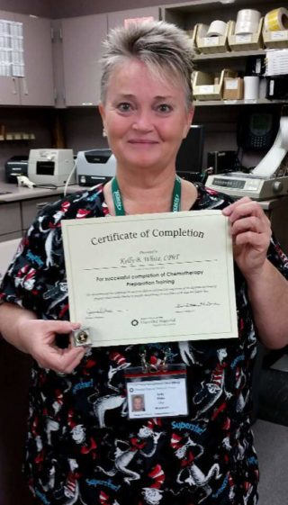 Kelly White Certified in the Preparation of IV Chemotherapy – IV ...